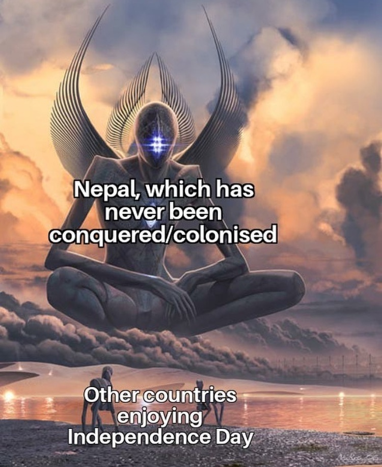 we can't call a country nipple so what about Nepal - meme