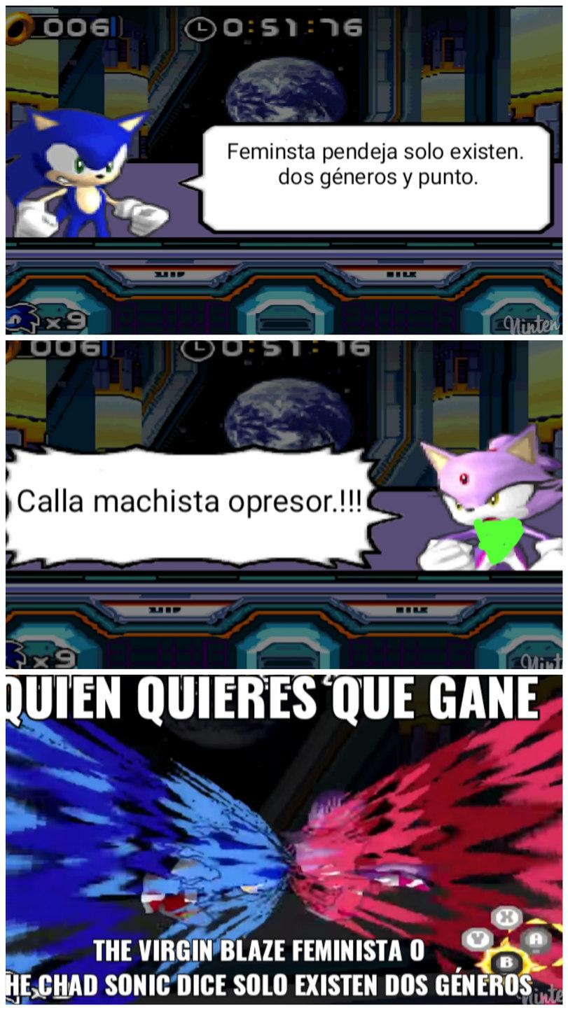 El juego se llama Sonic rush - meme