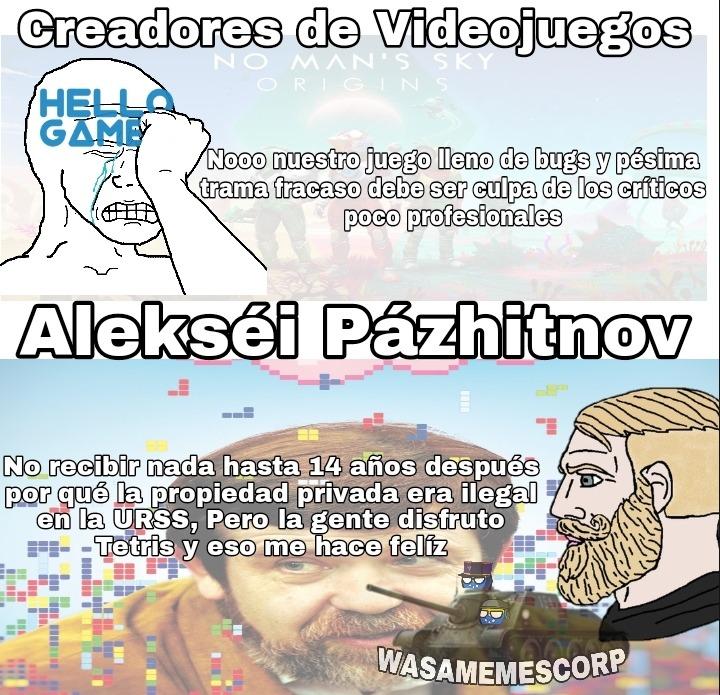 Dios comprendo que tienen que ganar dinero pero Alekséi es un apasionado por la programación y un gigachad (en lo primero solo es un ejemplo) - meme