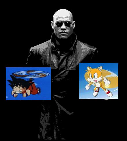 Elige pibe, Goku volando con su colita o tails volando con sus colitas?  :son: PD: malardo? :okay: - meme