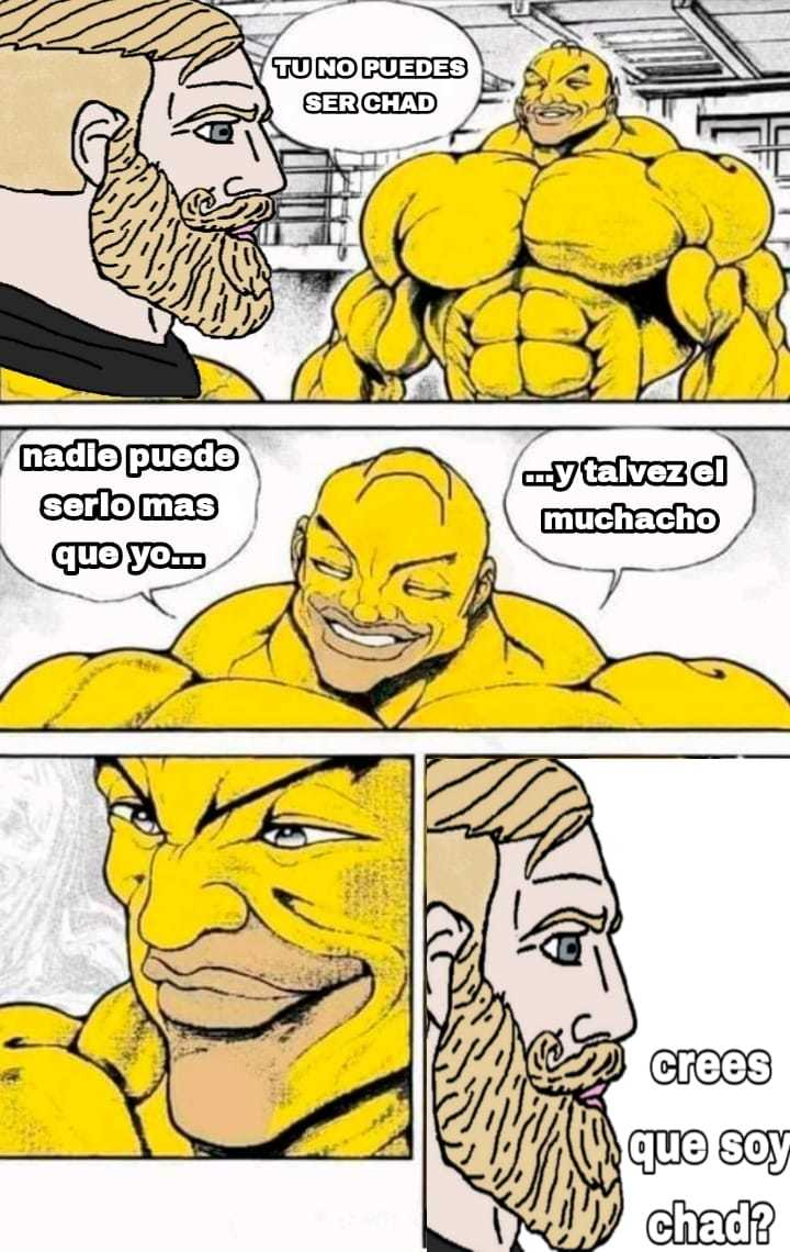 Otro meme de omero mamado, con chad