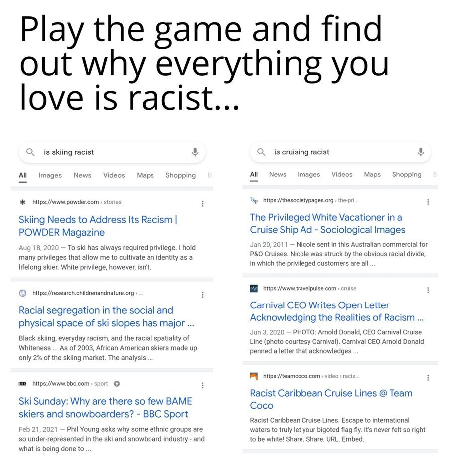 Everything is racist now - meme