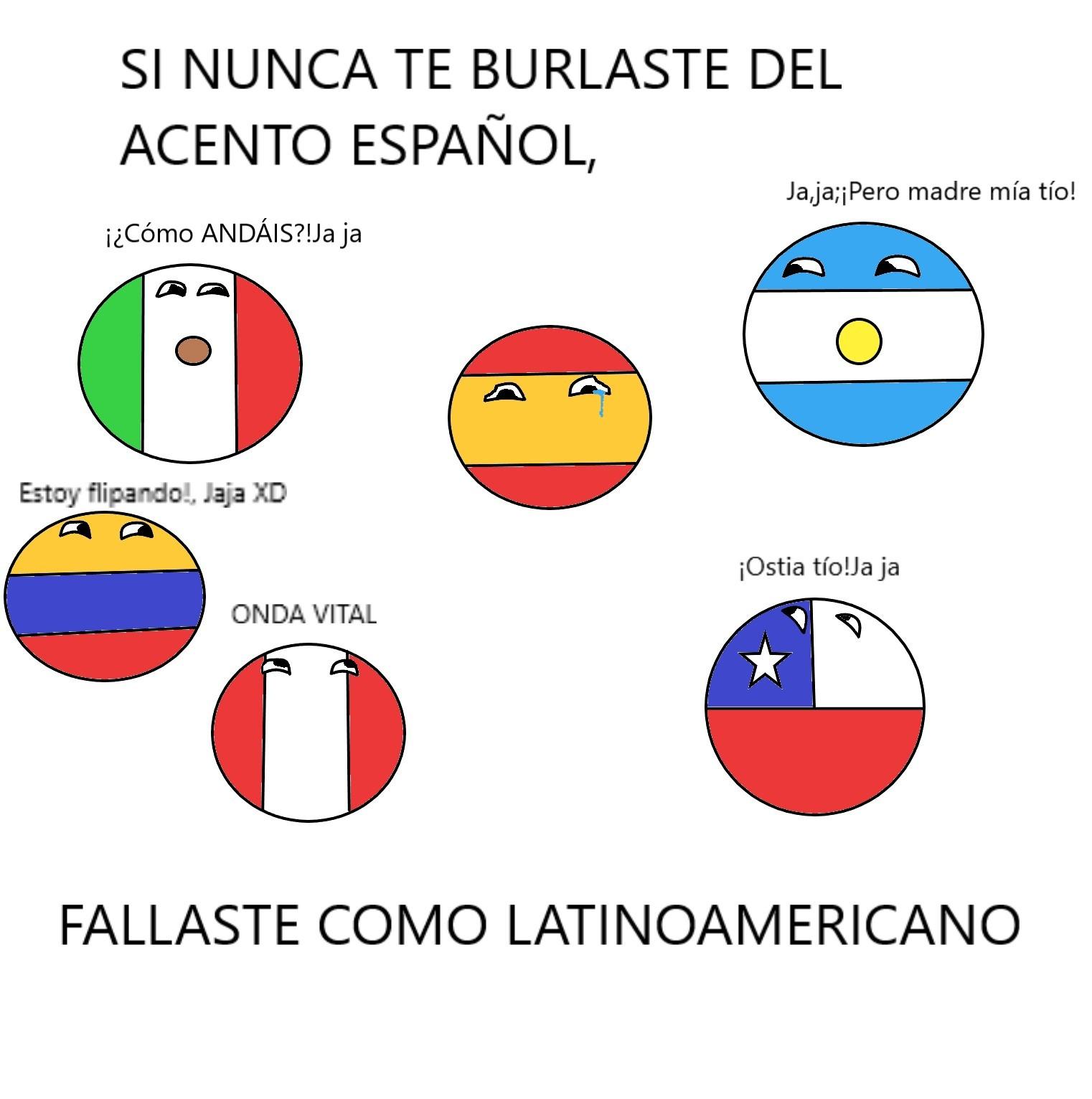 Todos se burlan de los españoles - meme