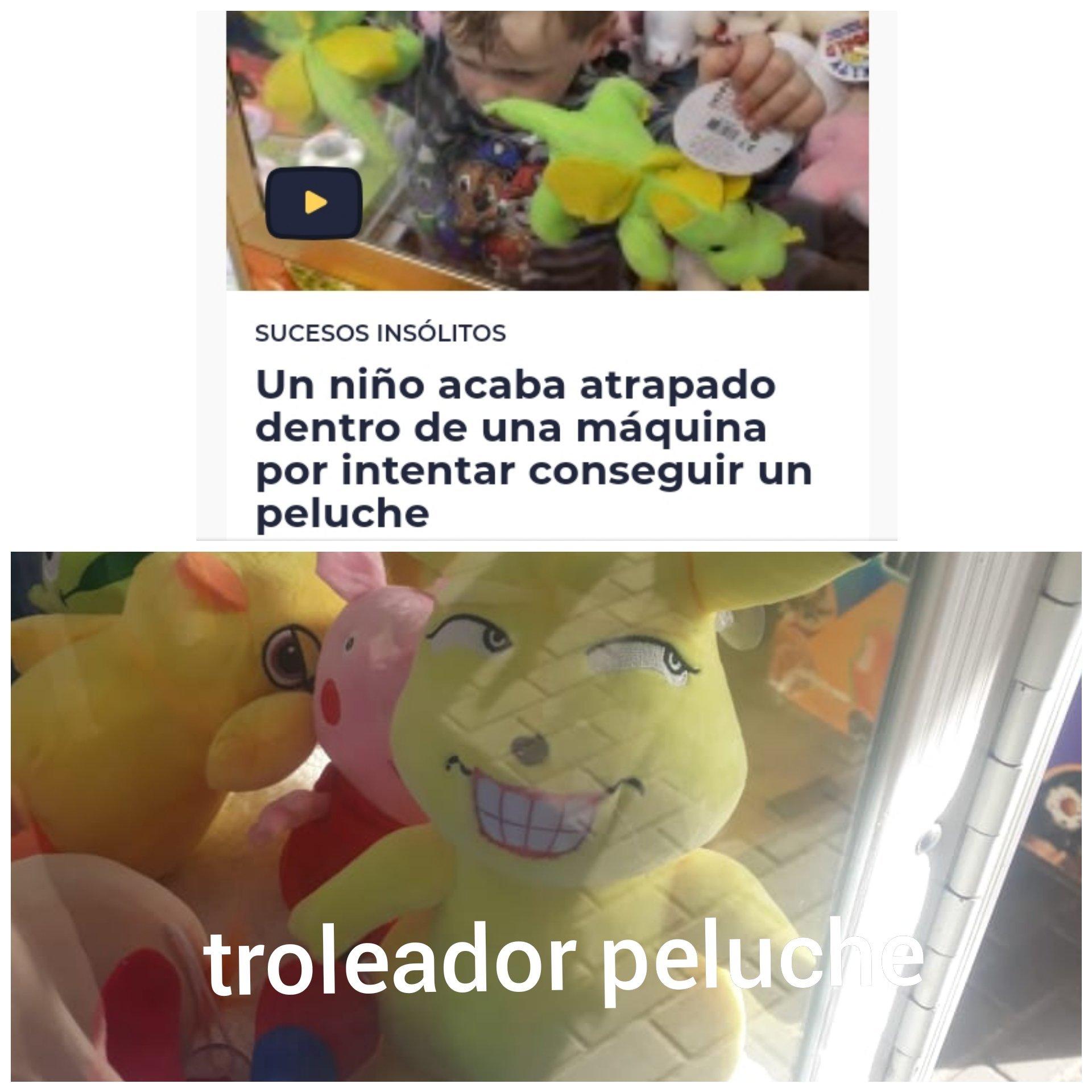 troleador peluche - meme
