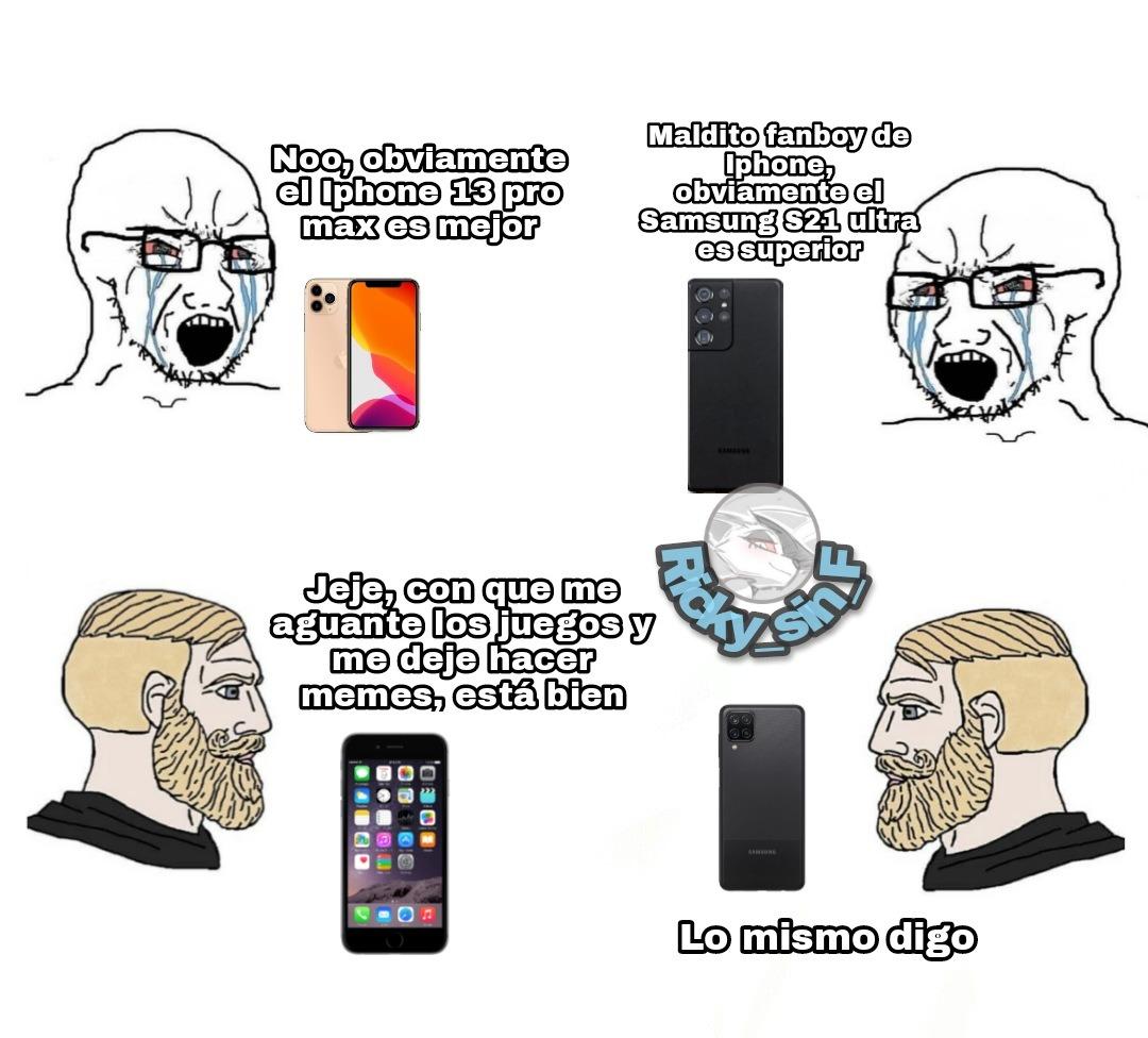El Iphone 6 apenas aguanta el Cod Mobile, pero creo que se entiende el meme