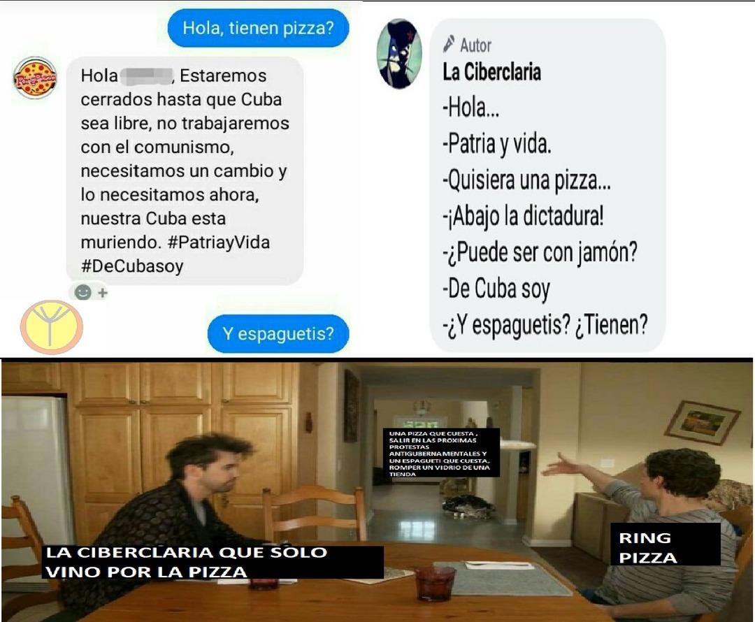 Patria y pizza - meme