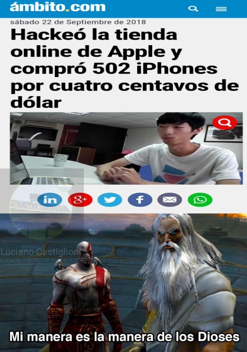 El titulo se fue a asia a comprar iphones - meme