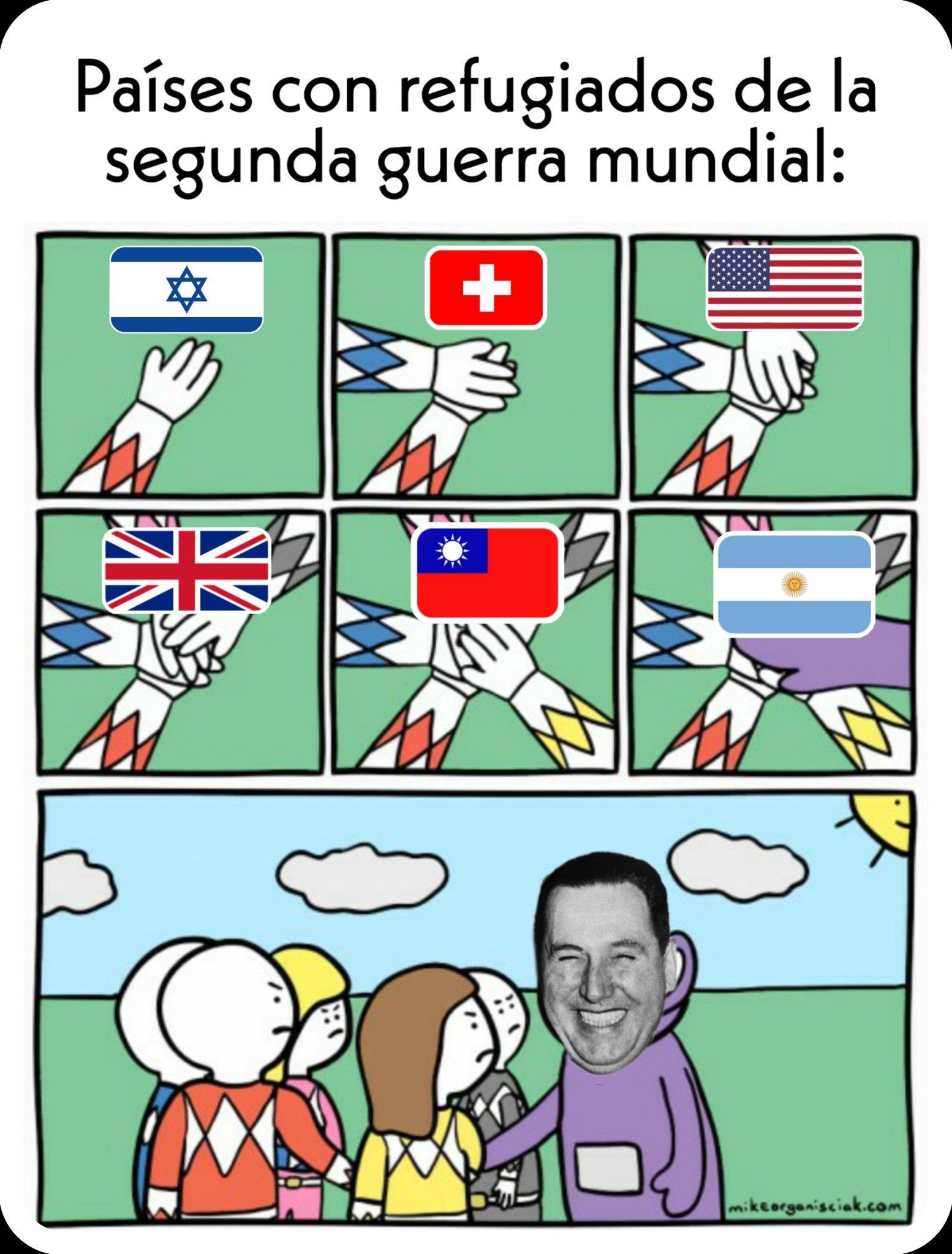 Refugiados nazis - meme