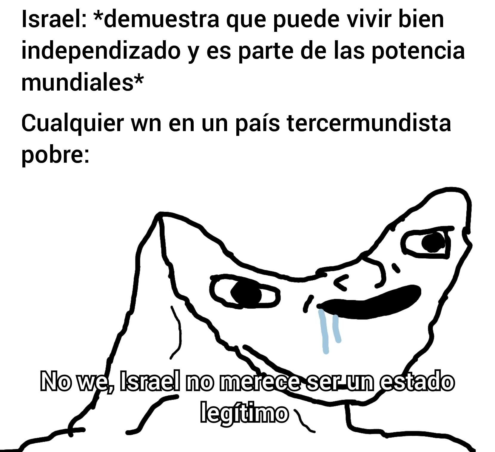 Apoyo a Israel merezco sus peores insultos :( - meme