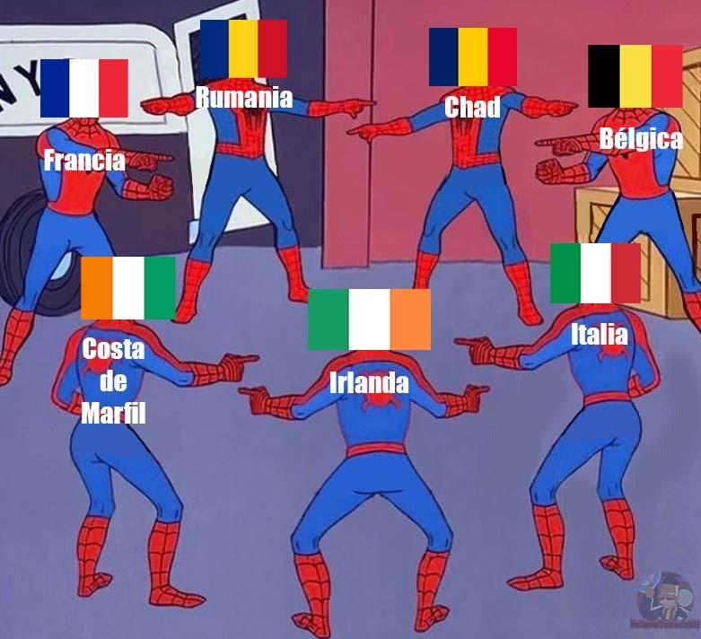 Dato curioso: Holanda fue de hecho el primer país en usar una bandera tricolor - meme