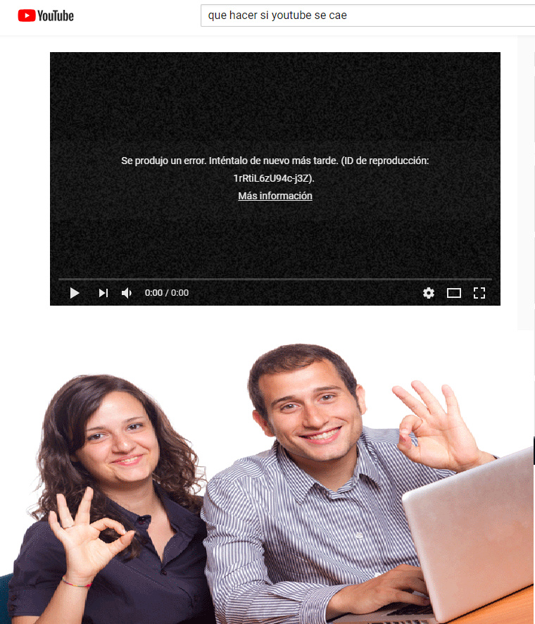 youtube se cayo - meme