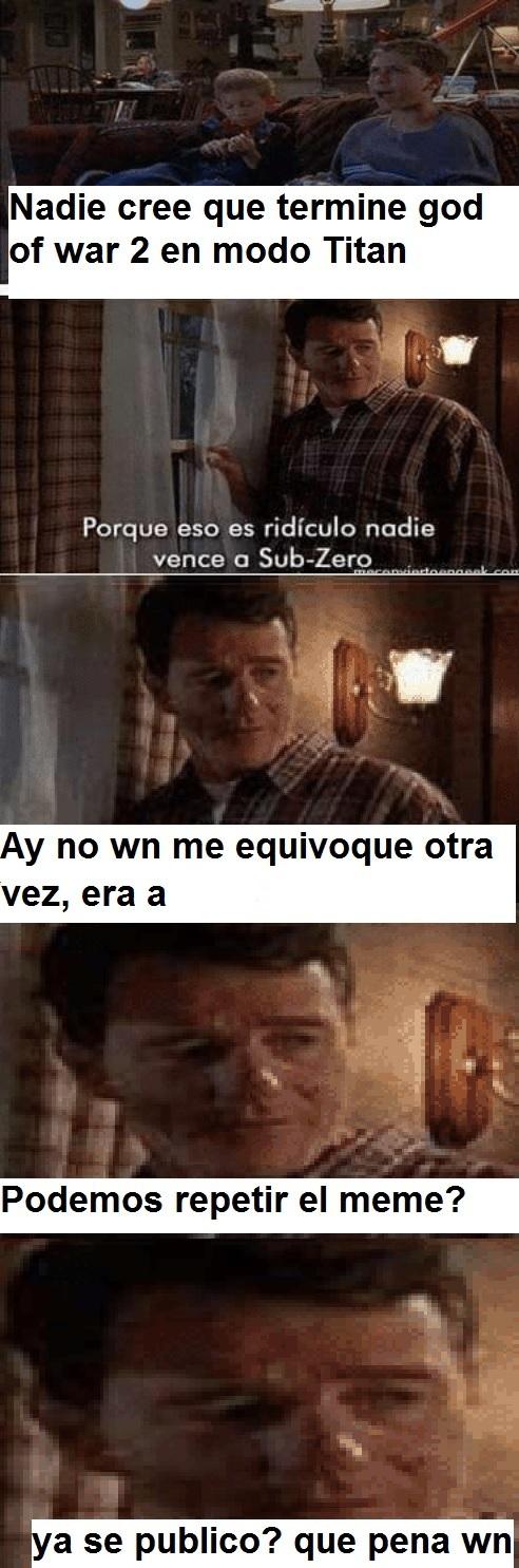 Nadie vence a sub zero - meme