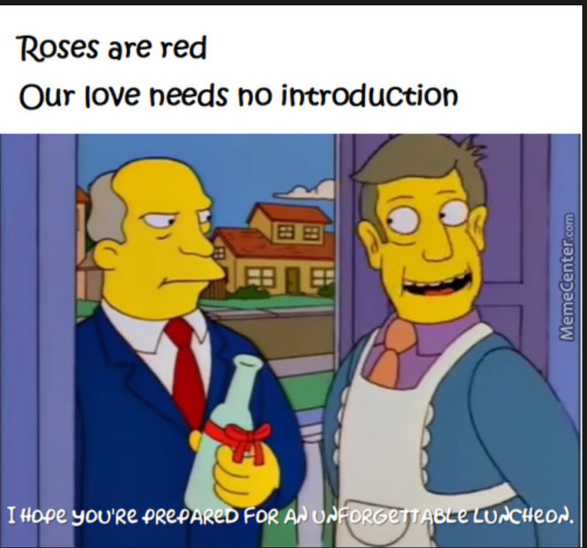 Steamed hams becomes a poem - meme