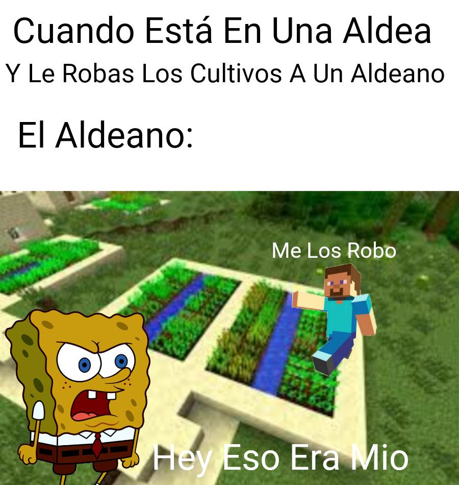 Se Enojo El Aldeano - meme