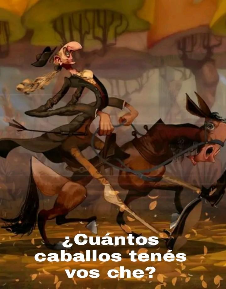 ¿Un caballero medieval argentino? - meme