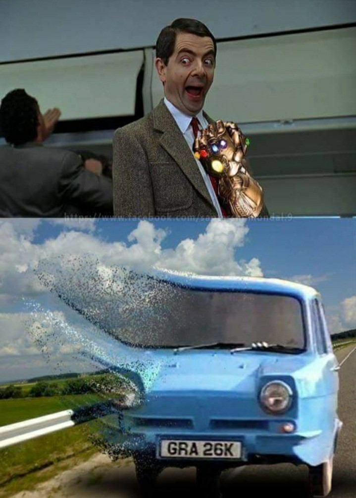 E seMr Bean tivesse a manopla do infinito? - meme