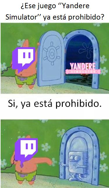 Yandere Simulator está prohibido? - meme