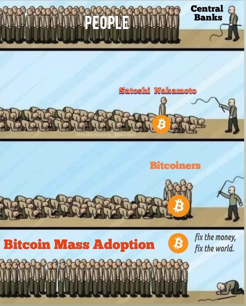 Bitcoin means freedom - meme