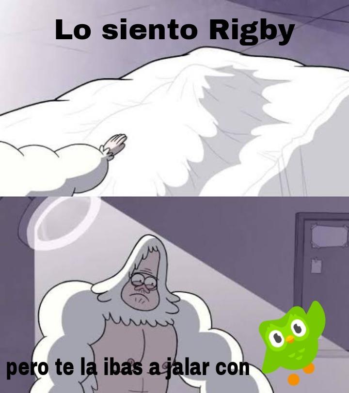 No Rigby - meme