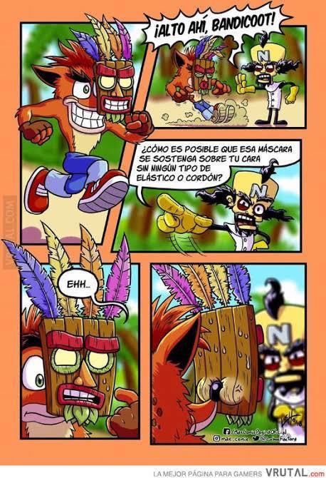 Bueno un meme de Crash Bandicoot (Carlos el topo que gira) QUE NO ES MIO LO SAQUE DE GOOGLE