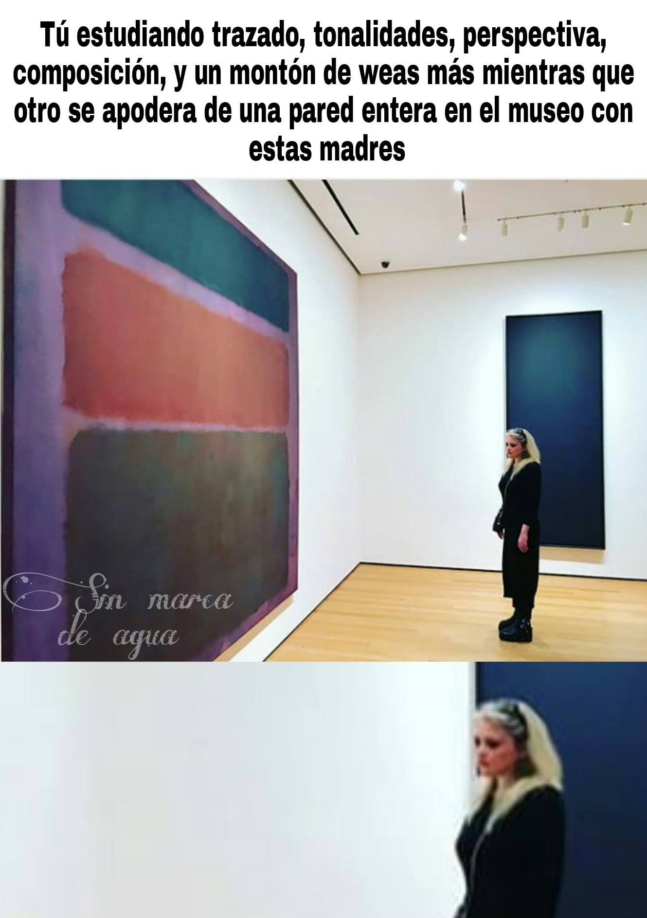 Arte contemporánea (original) - meme