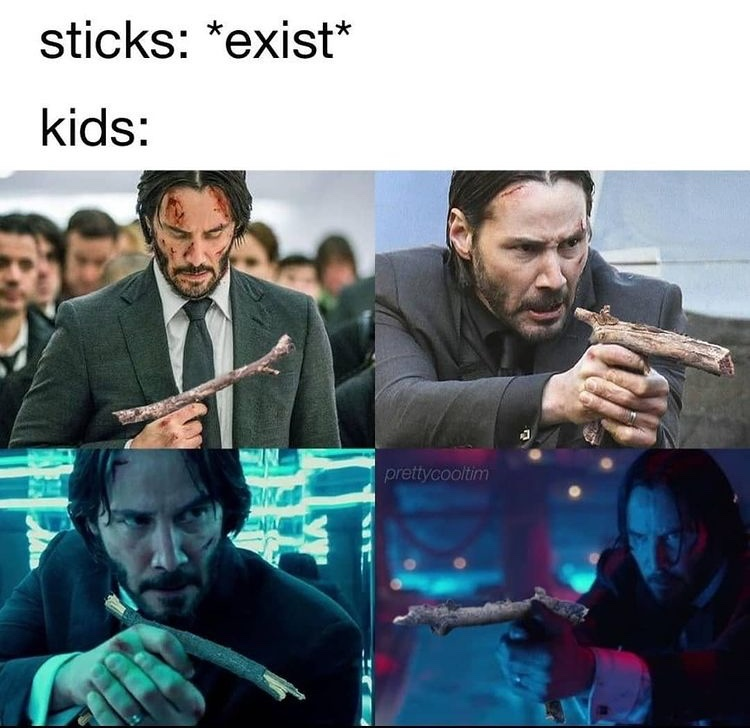 John wick stick - meme