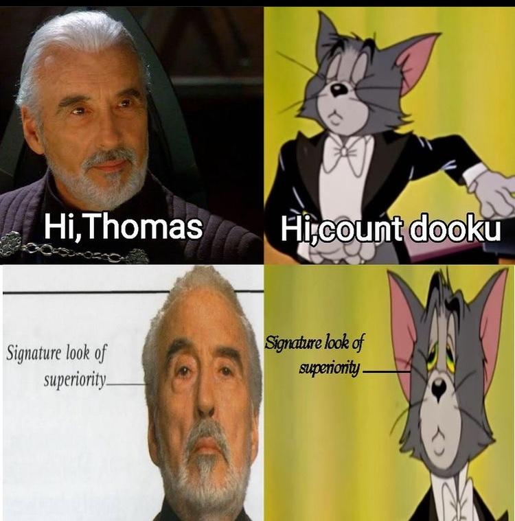 signature look of superiority - meme