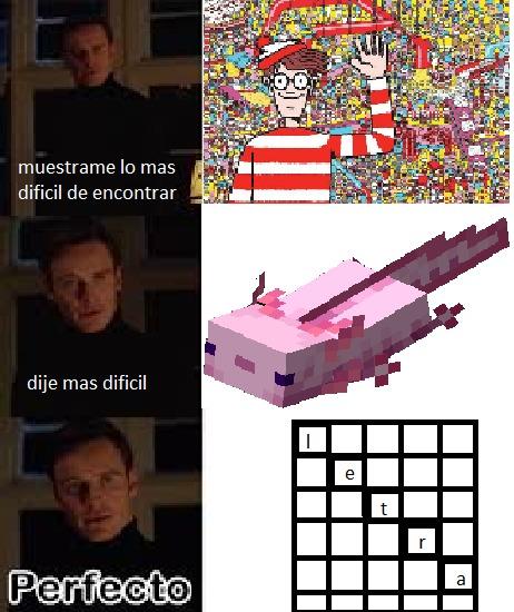 letra en sopa de letras en diagonal - meme