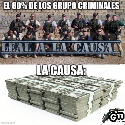 Los de la foto no son mafiosos son mercenarios - meme