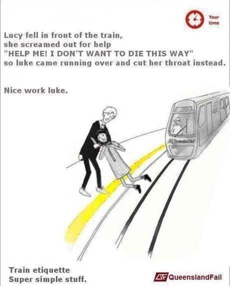 Train Etiquette - meme