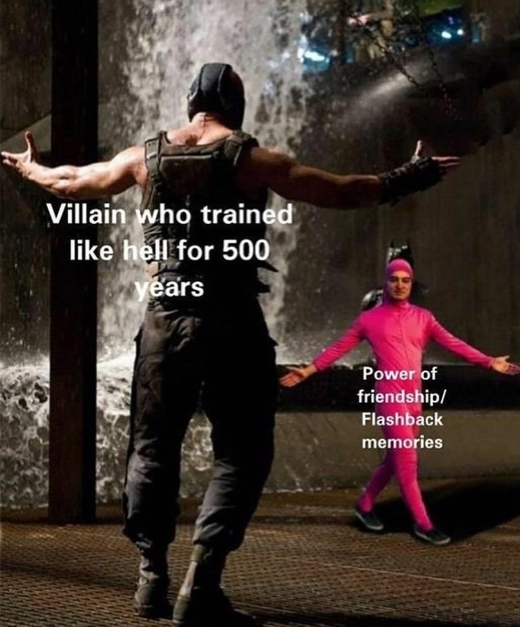 power of friendship - meme