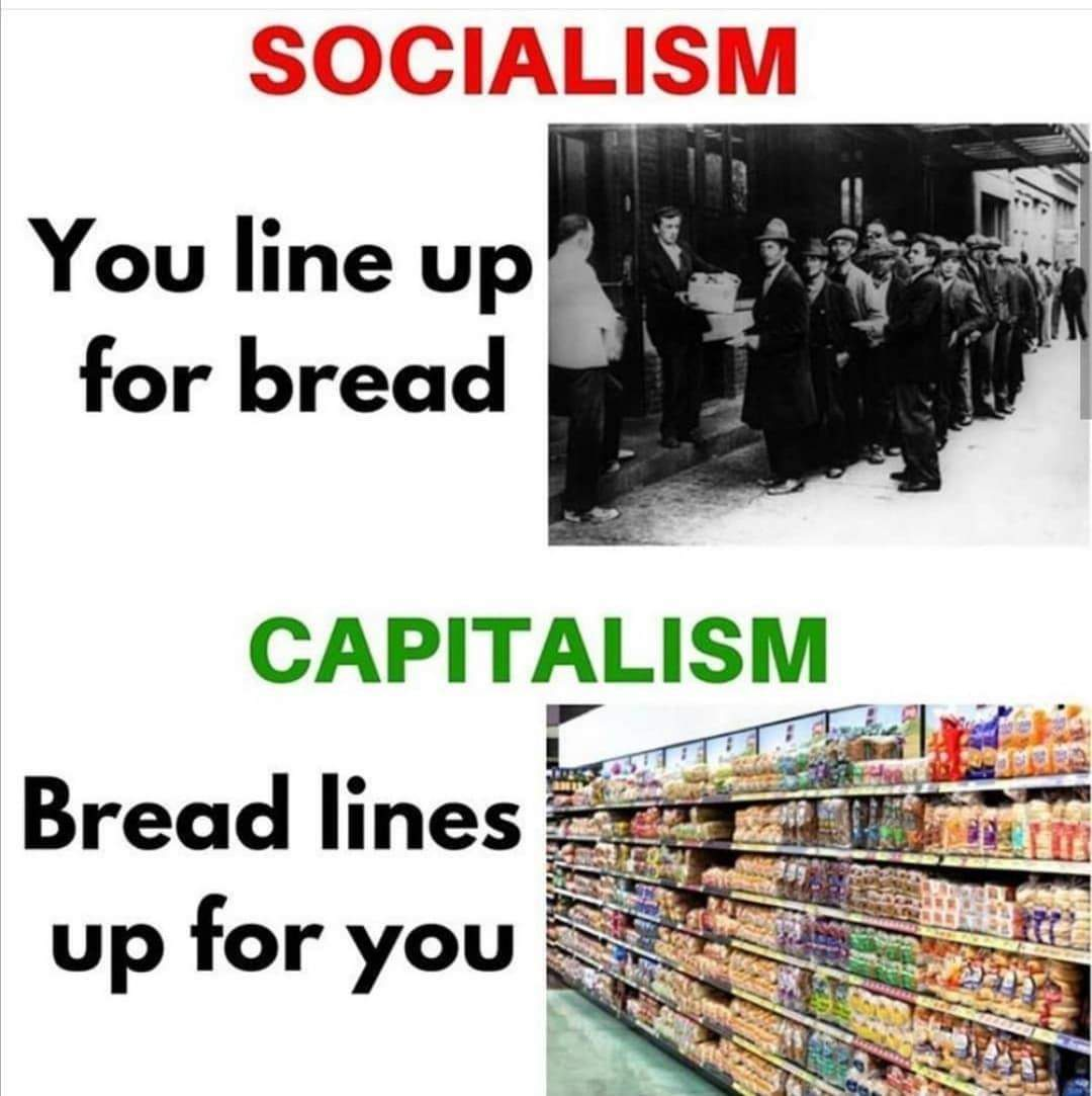 Democratic socialism is Capitalism with extra steps - meme