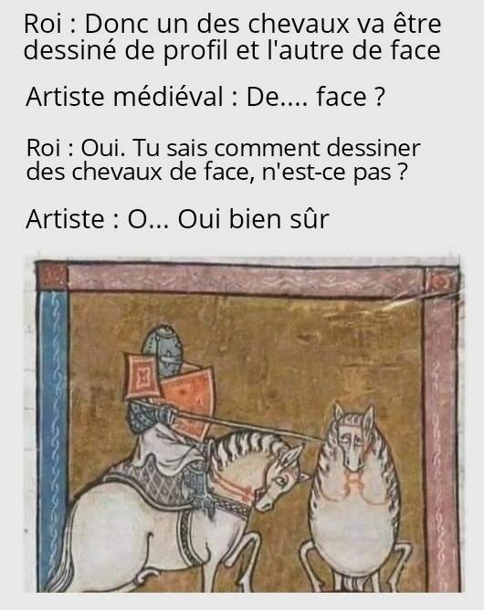 La légende raconte qu'il finissa guillotiné - meme