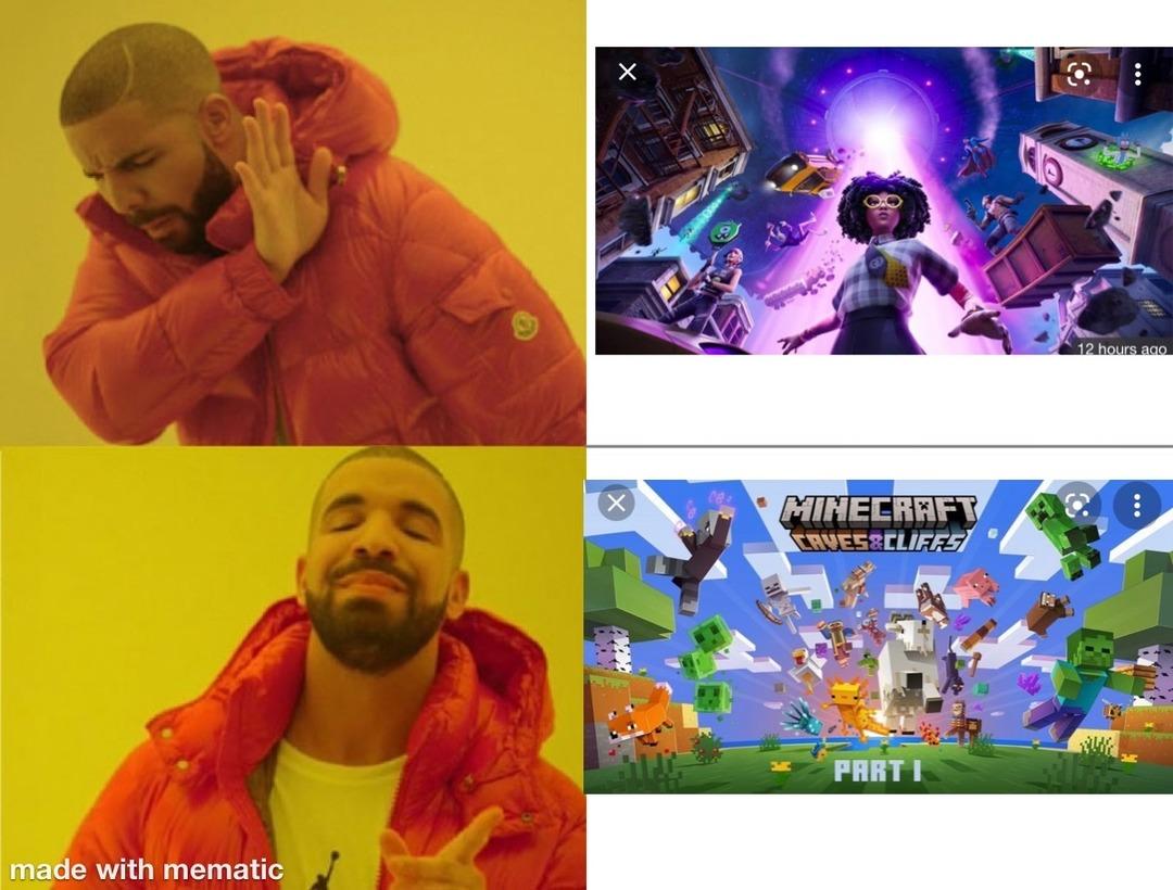 Minecraft good - meme