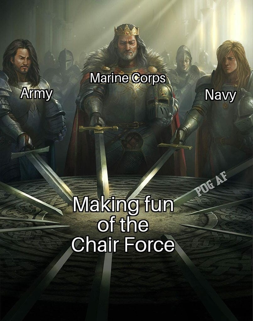 Is it wrong to still desire to join the chair force after talking shit to them? - meme