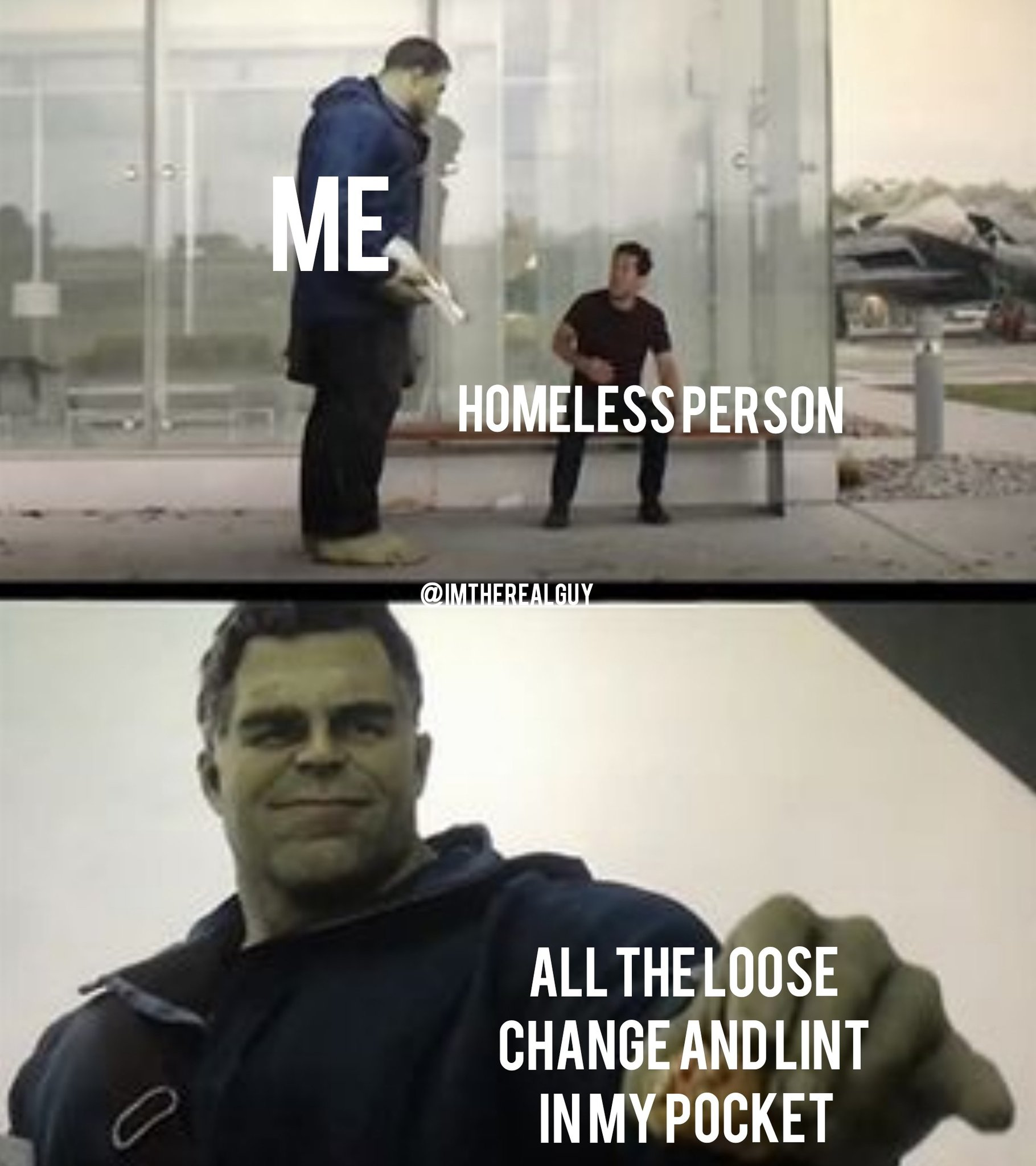 Giving to those in need - meme
