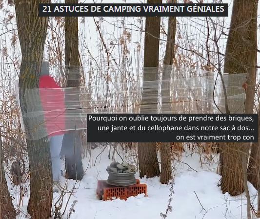"""Astuces"" de camping - meme"