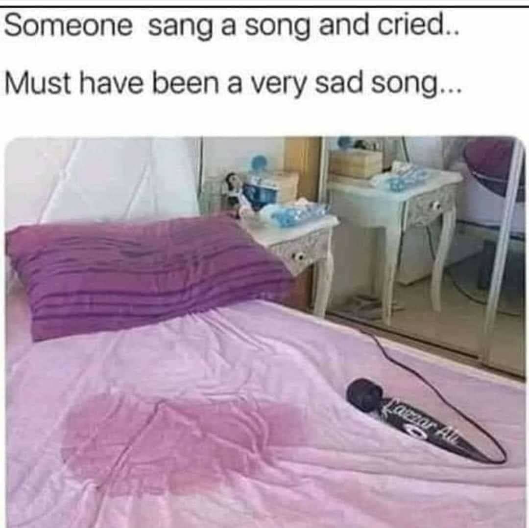 Definitely a sad song - meme