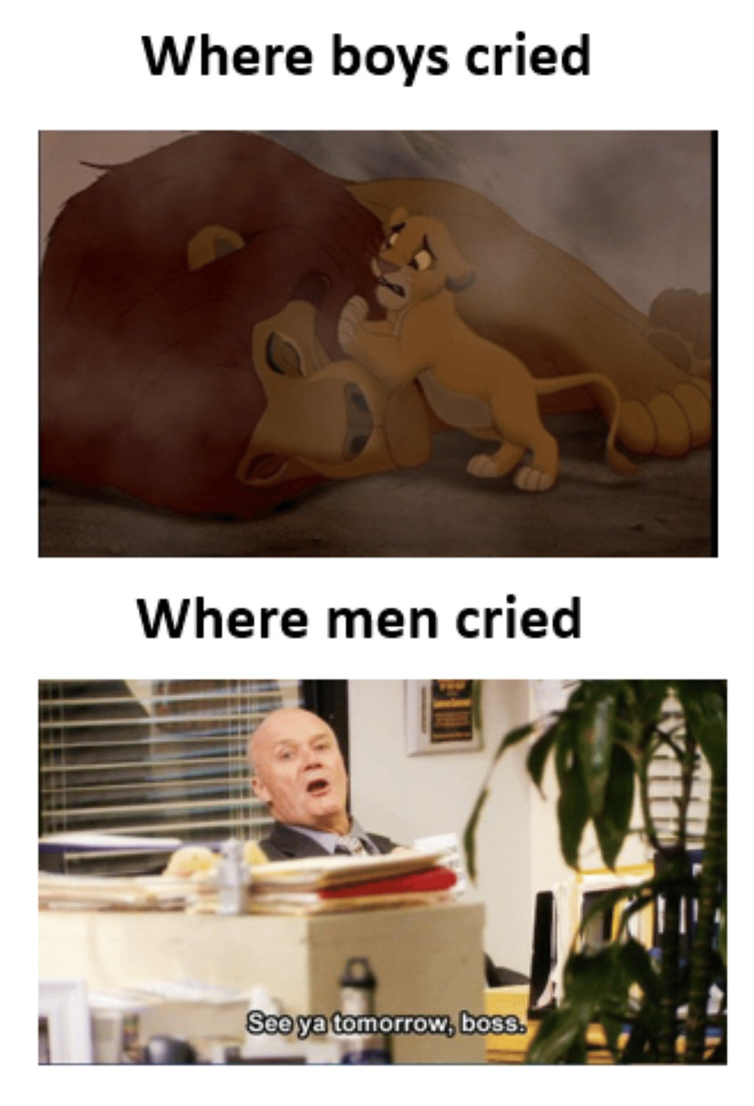 When Men cry - meme