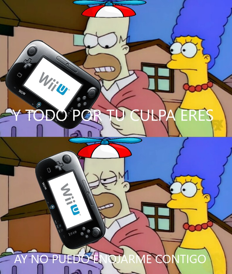 AY NO PUEDO ENOJARME CONTIGO WIIU - meme