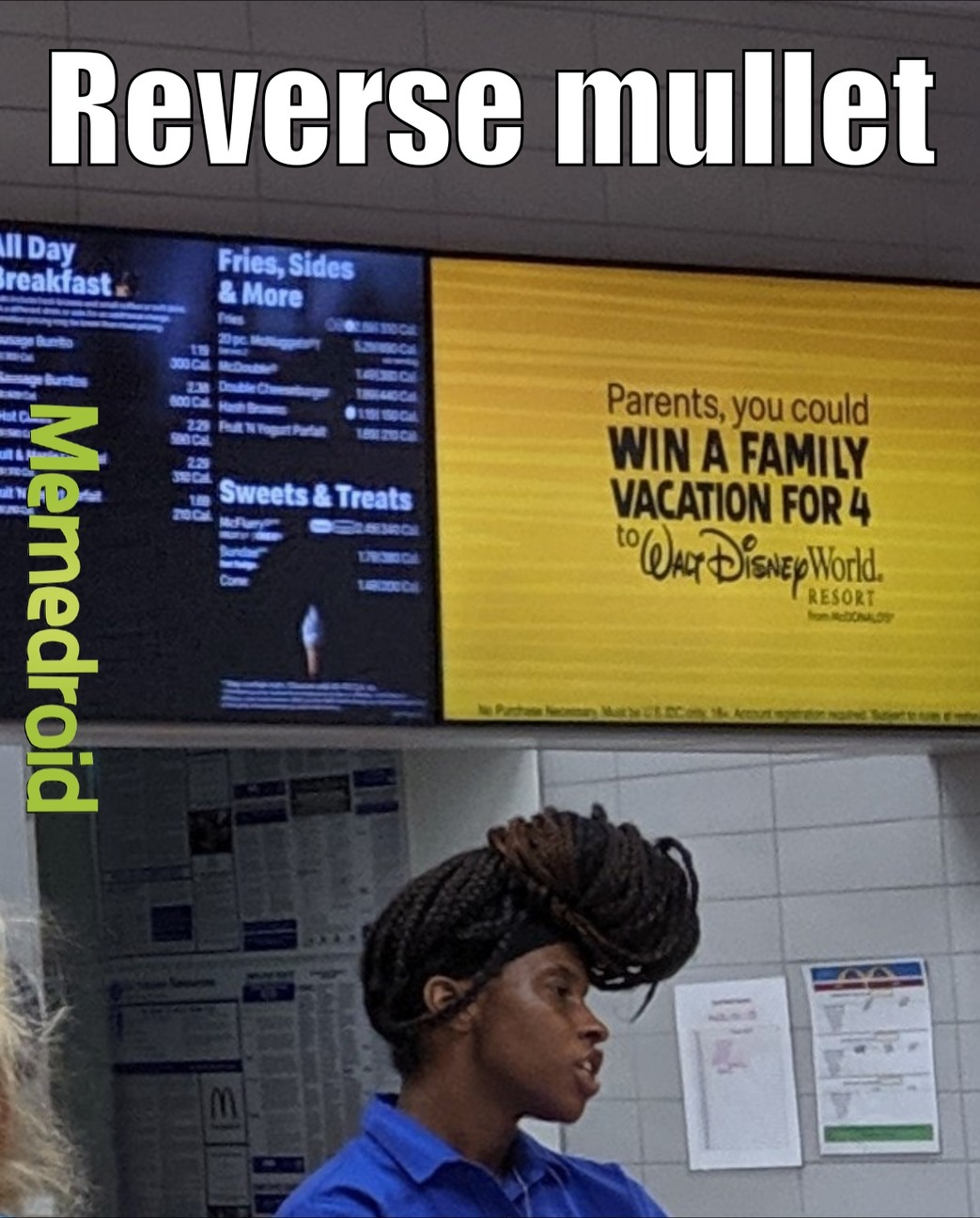 Reverse Mullet - meme