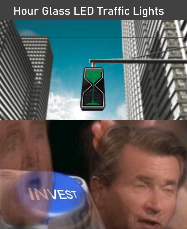 Hour glass traffic lights - meme