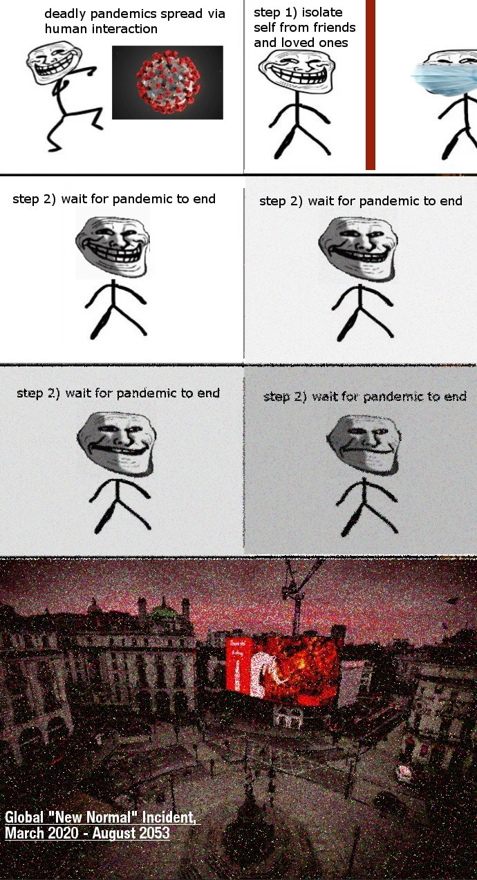 the COVID-19 incident - meme
