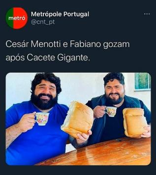 O pão é do tamanho deles - meme