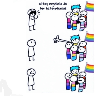 """Estoy orgulloso de  ser hetero"" = underage - meme"