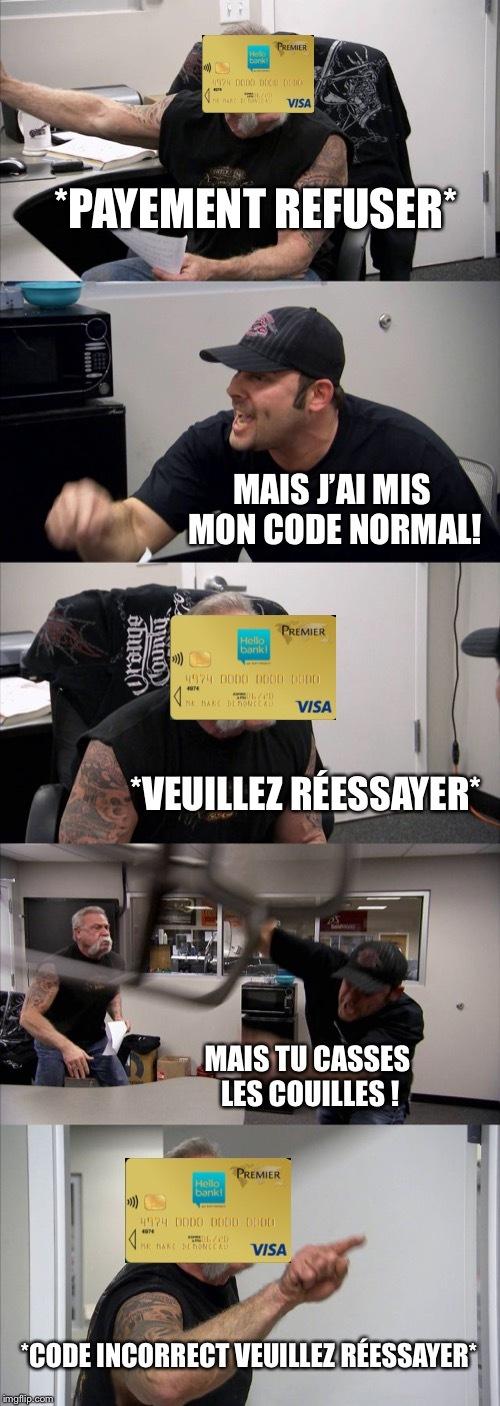 Le titre a une carte bancaire - meme
