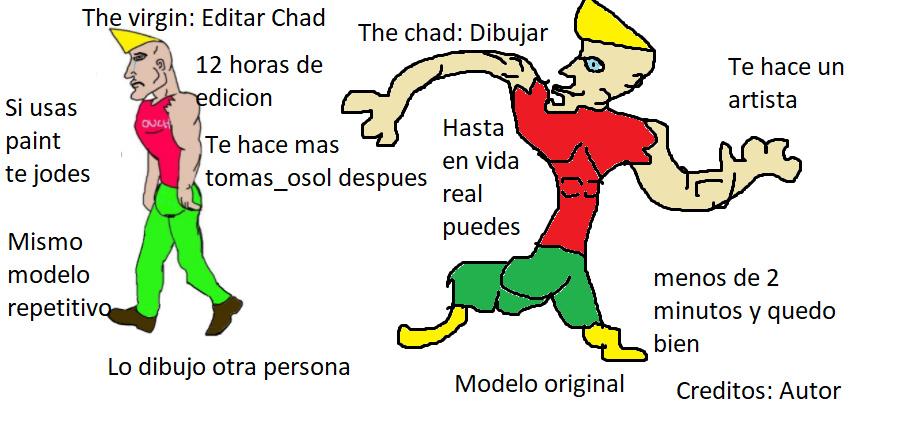 Dibujar CHad - meme