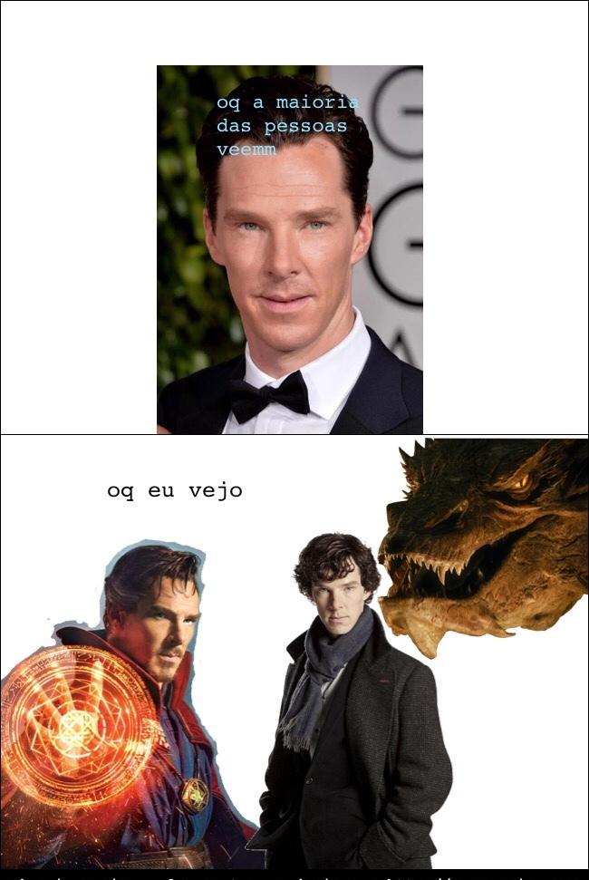sherlock smaug e doutor estranho - meme