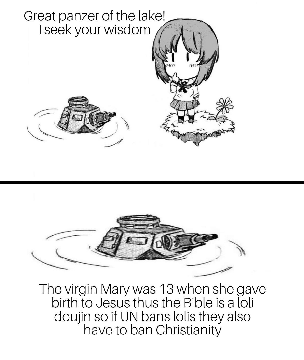 I wanna read the bible now. - meme