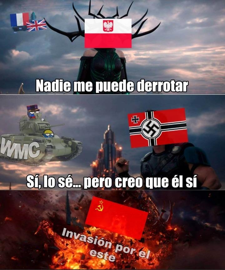 Invasión de Polonia 1939 - meme
